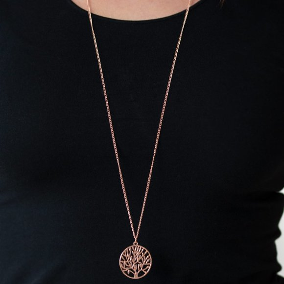 Save the Trees Copper Necklace
